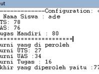 Menghitung Nilai Akhir Menggunakan Java