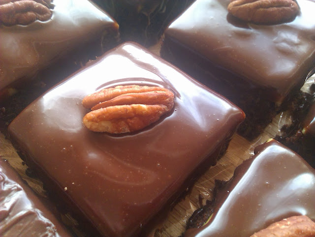 Chocolate Marzipan Squares
