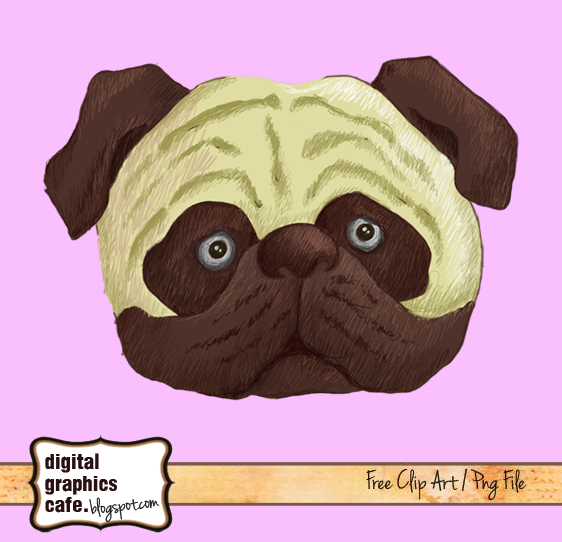 pug clip art royalty free