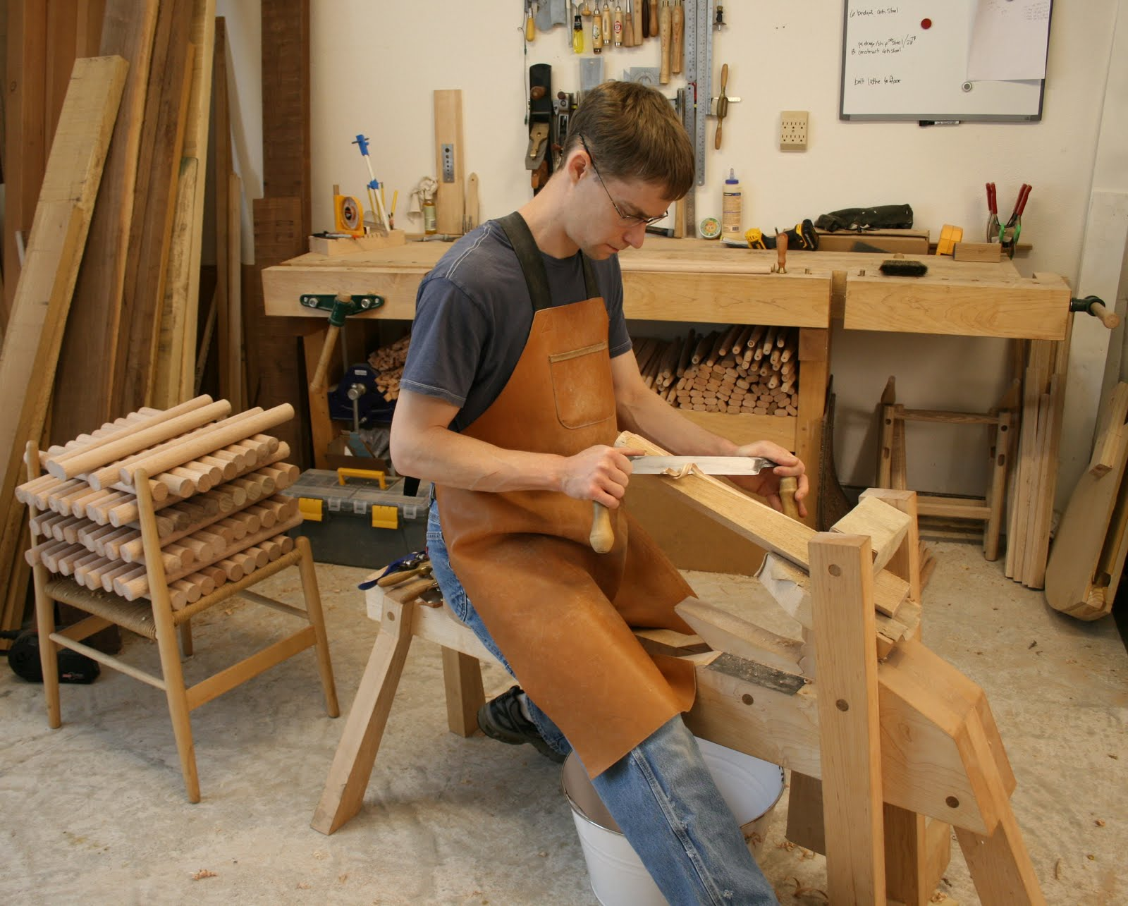 Caleb James Chairmaker Planemaker Shave Horse