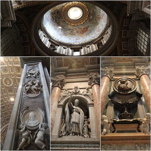 Inside St Peter Basilica in Vatican City, Rome, Italy