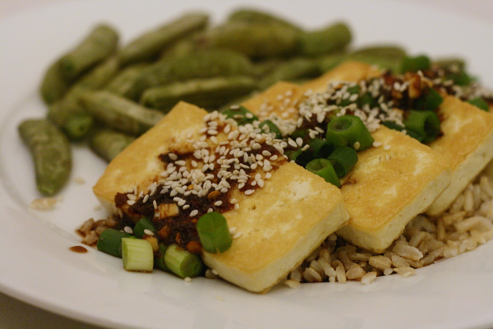 Fried Tofu with Spicy Ginger Sauce