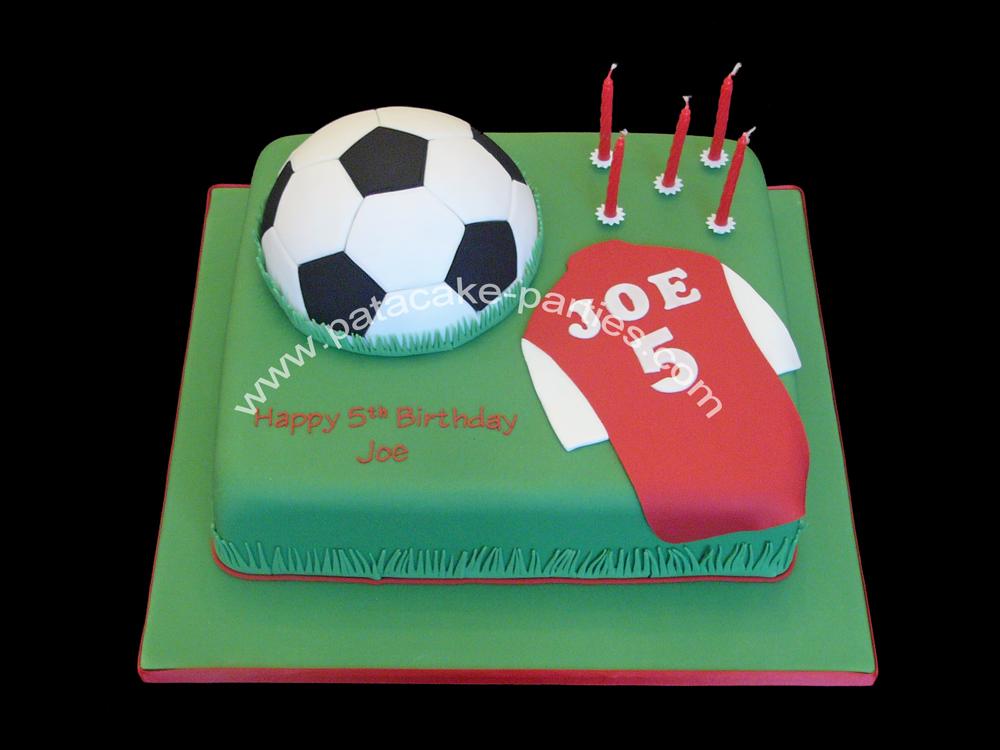 PataCake Parties Football Birthday Cake
