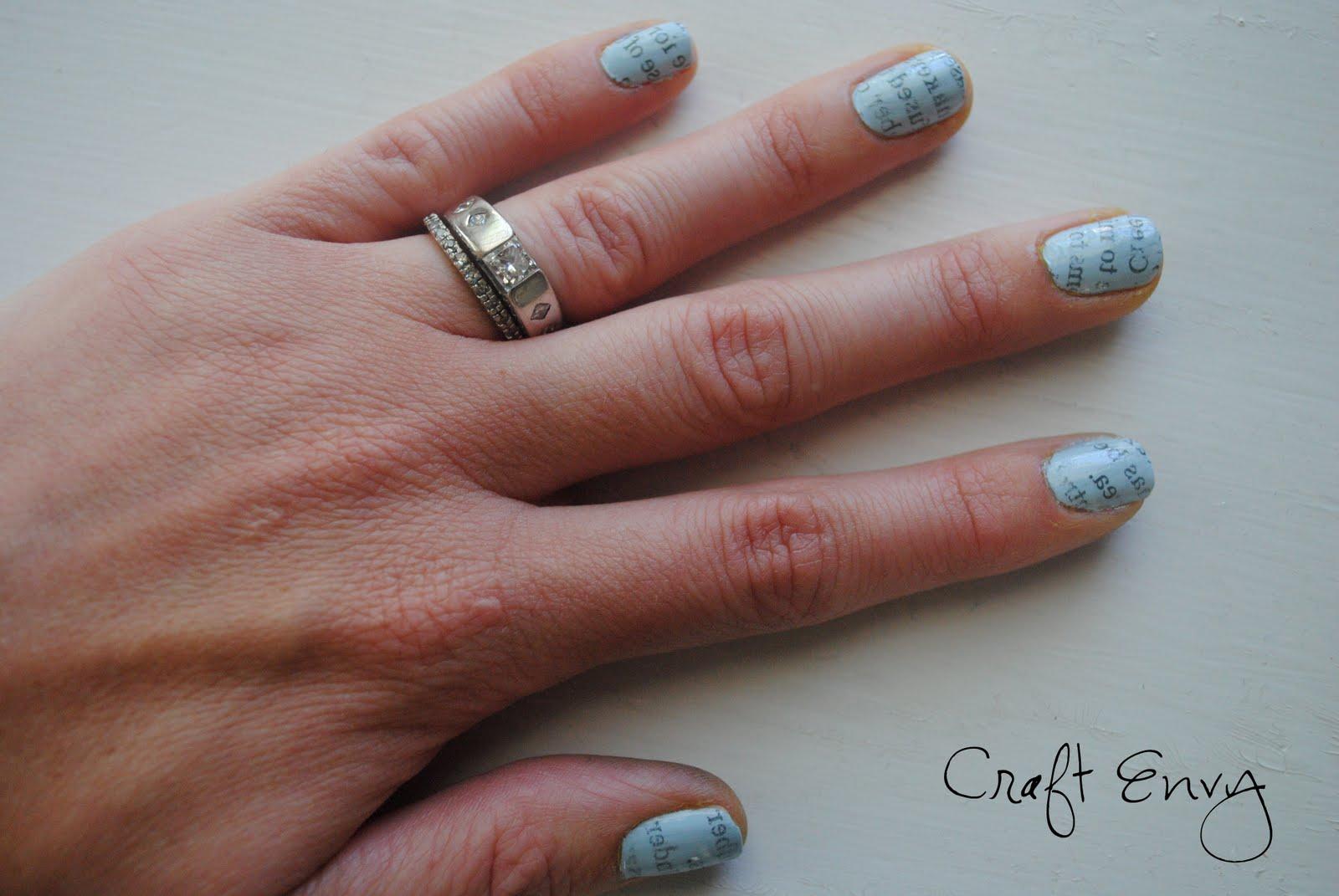 Craft Envy: Newspaper Nails
