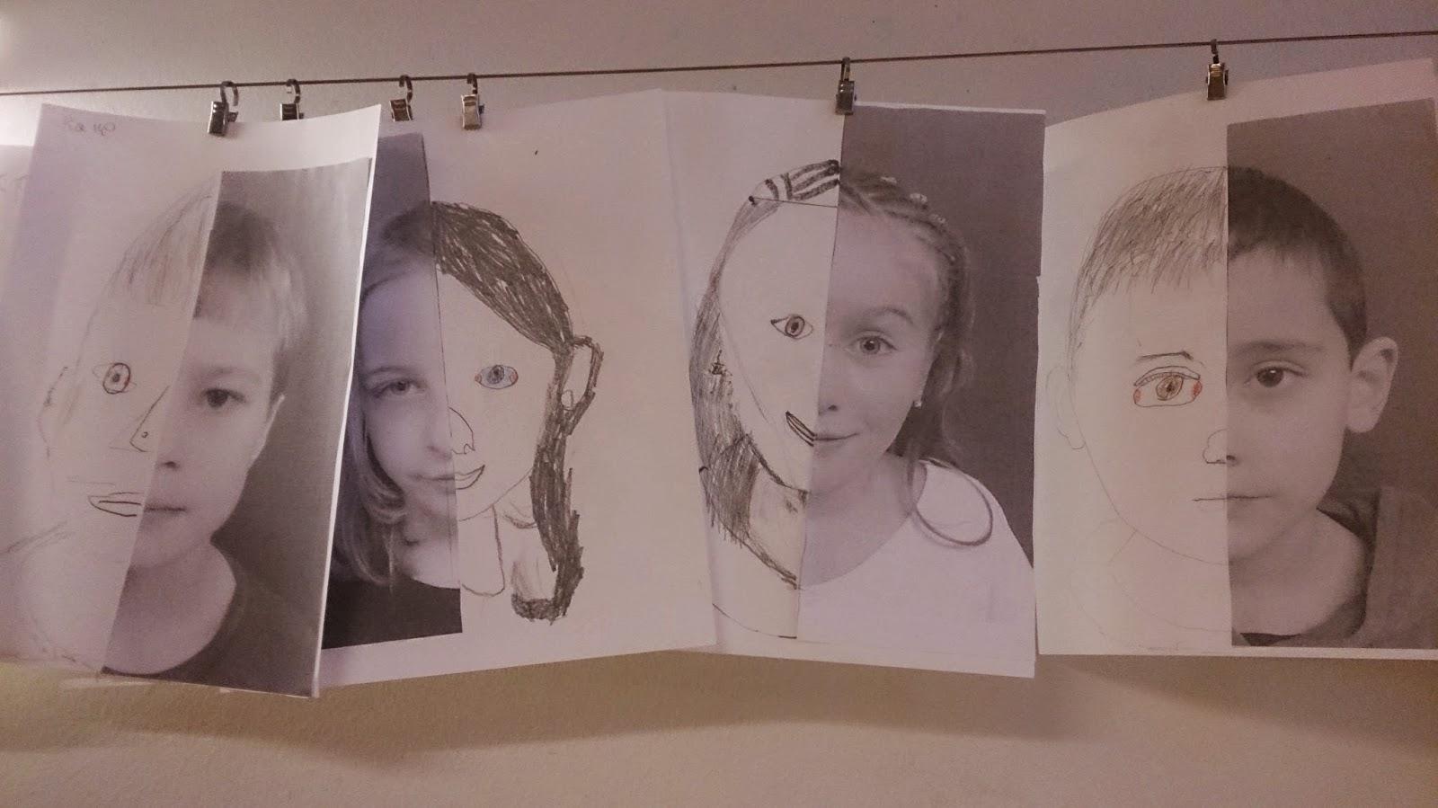 Bildresultat för ansikte ritat halva fotograferat halva