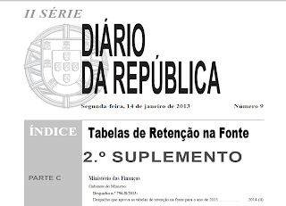 Orçamento, Estado, Fiscalidade, Austeridade, IRS, Contribuições, Impostos, Tabelas de Retenção Na Fonte, Diário da República, Portuguesa, Ministério, Finanças,