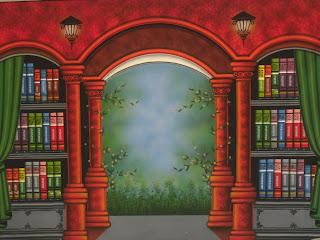 Download Contoh Background Wisuda – Rak Buku dan Lemari Buku