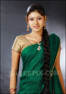 Oviya_green_half_saree