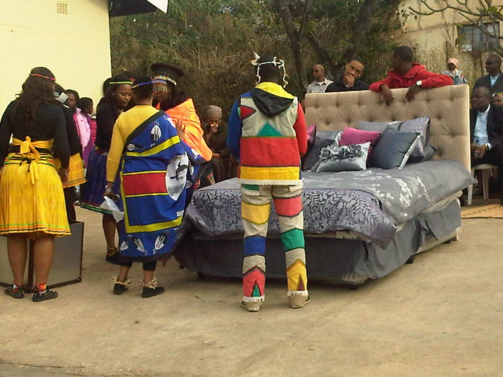 Umabo traditional zulu wedding umendo still preparing the bed and his clothing junglespirit