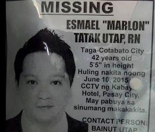 """Esmael """"Marlon"""" Tatak Utap missing"""