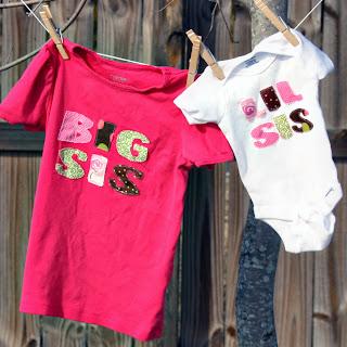 handmade big sis/lil sis shirts