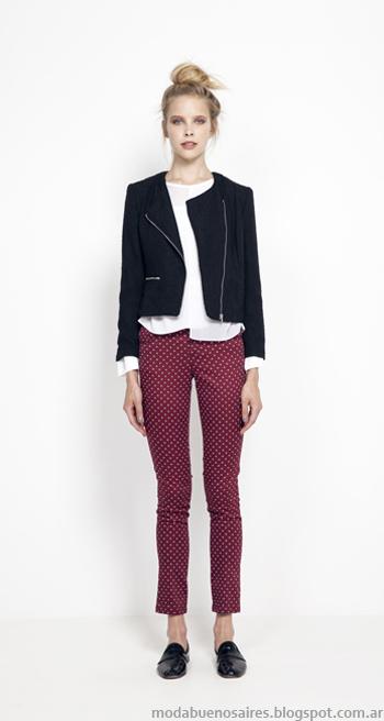 Moda invierno 2014 Argentina. Looks de moda Julien colección invierno 2014 camperas y pantalones.