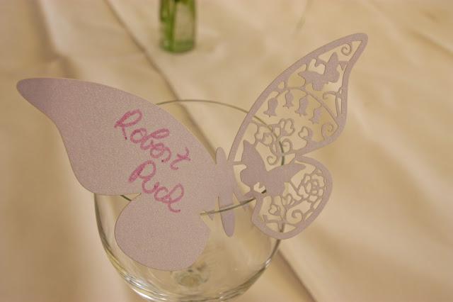 Schmetterling als Namenskarten