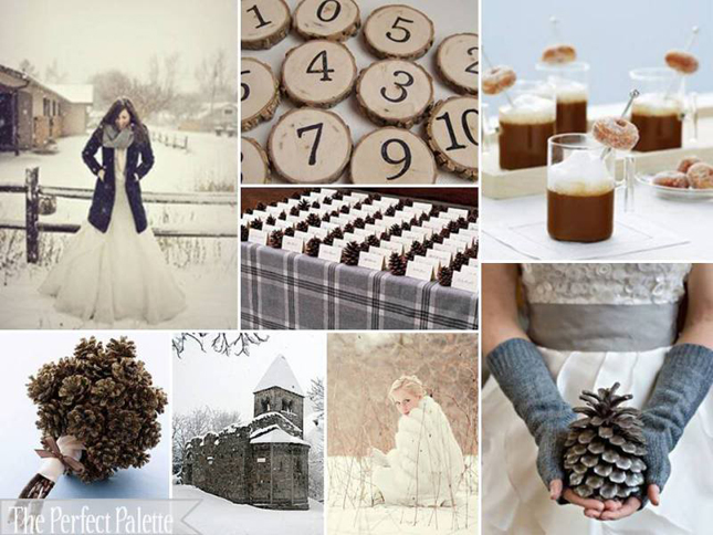 Castle wedding the ultimate color guide for a winter wedding for Winter wedding color palettes