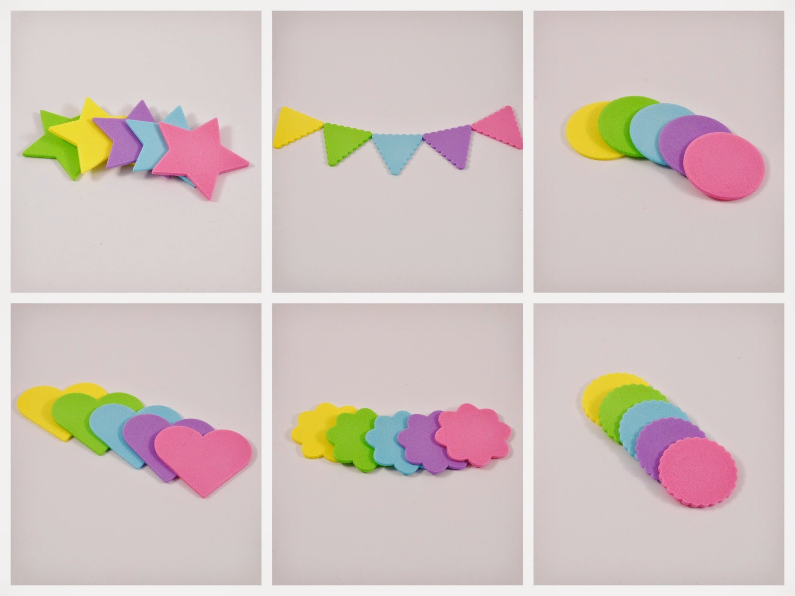 foam shapes kids crafts scrapbooking