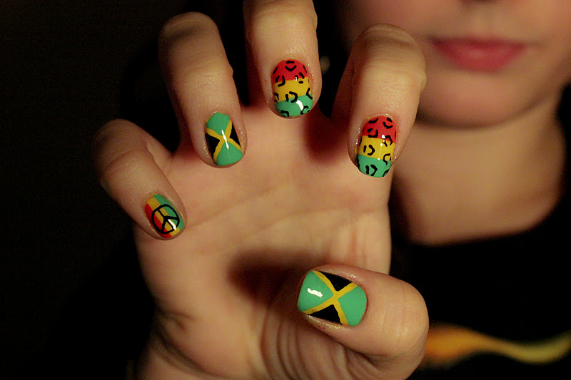 Jamaican Flag Nails | Best Nail Designs 2018