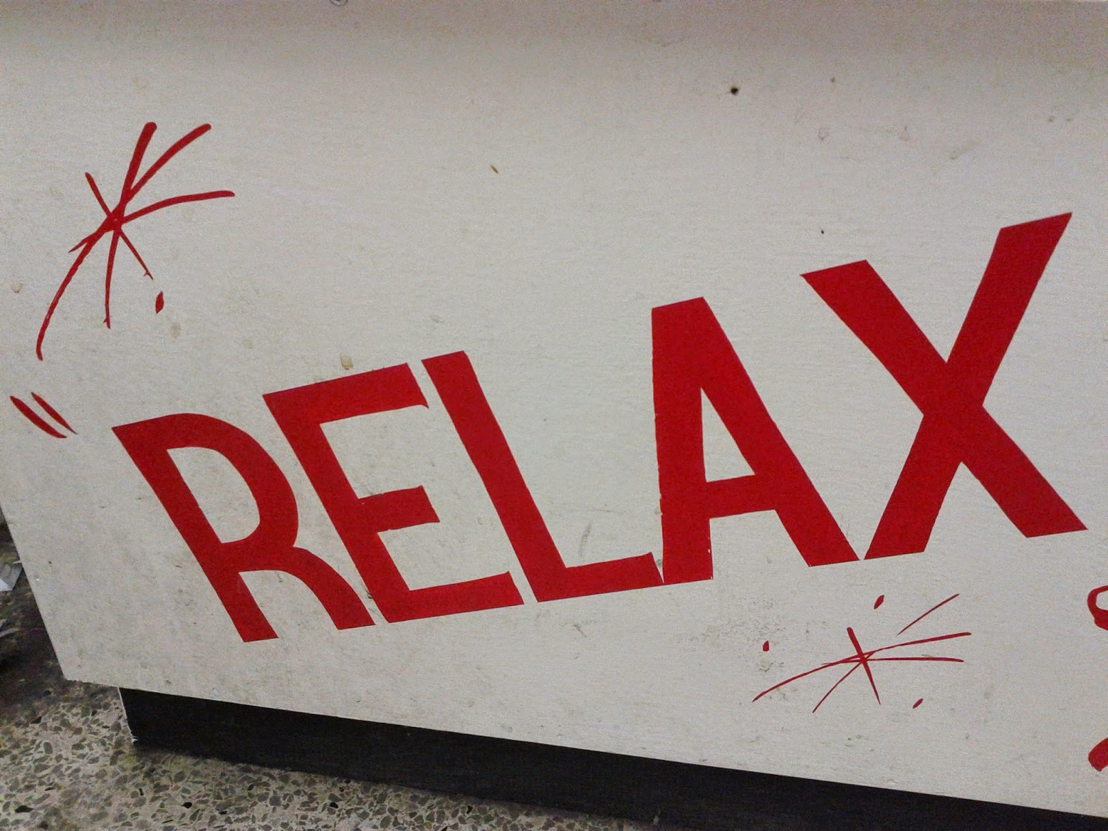 Stock photo: Relax sign