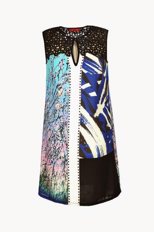 Πρωινο φορεμα με δαντελα και fashionable print