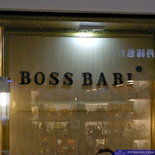 (Gambar) Kedai Barangan Boss Babi Yang Sebenar