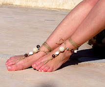 Earth Tones Barefoot Sandals White