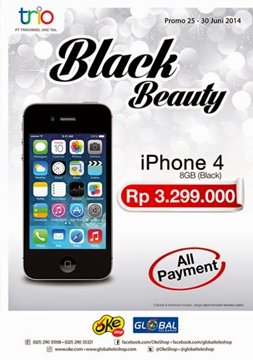 Trikomsel iPhone 4 8 GB Rp 3.299.000