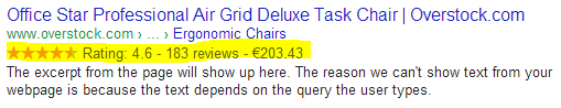 Rich Snippets for Products