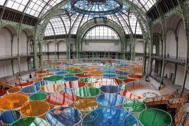 une vue générale de l'installation Excentrique au Grand Palais