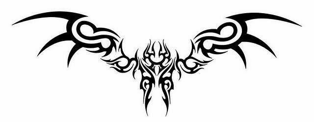 Lower back tribal tattoo stencil