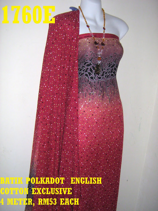 BPE 1760E: BATIK POLKADOT ENGLISH COTTON EXCLUSIVE, 4 METER