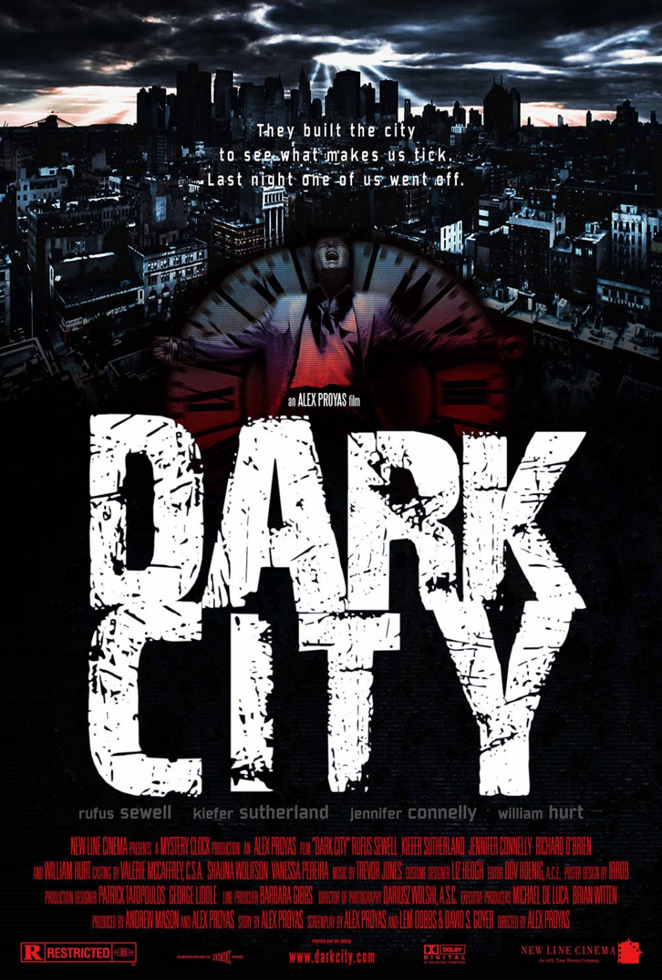dark city Dark city - john murdoch (rufus sewell) awakens alone in a strange hotel to find that he is wanted for a series of brutal murders the problem is that.