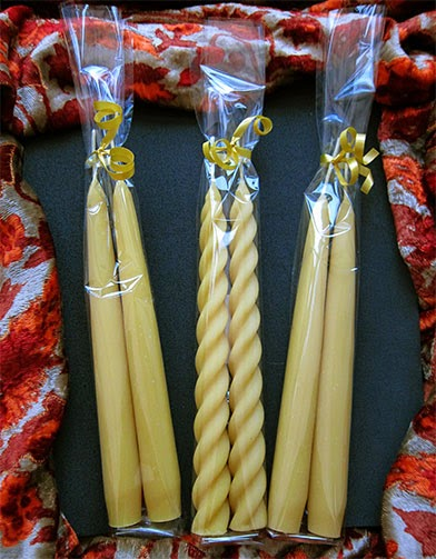 Pure Beeswax Candles for Christmas 2013