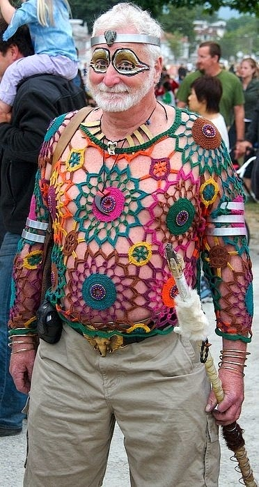 man hippy crochet for summer