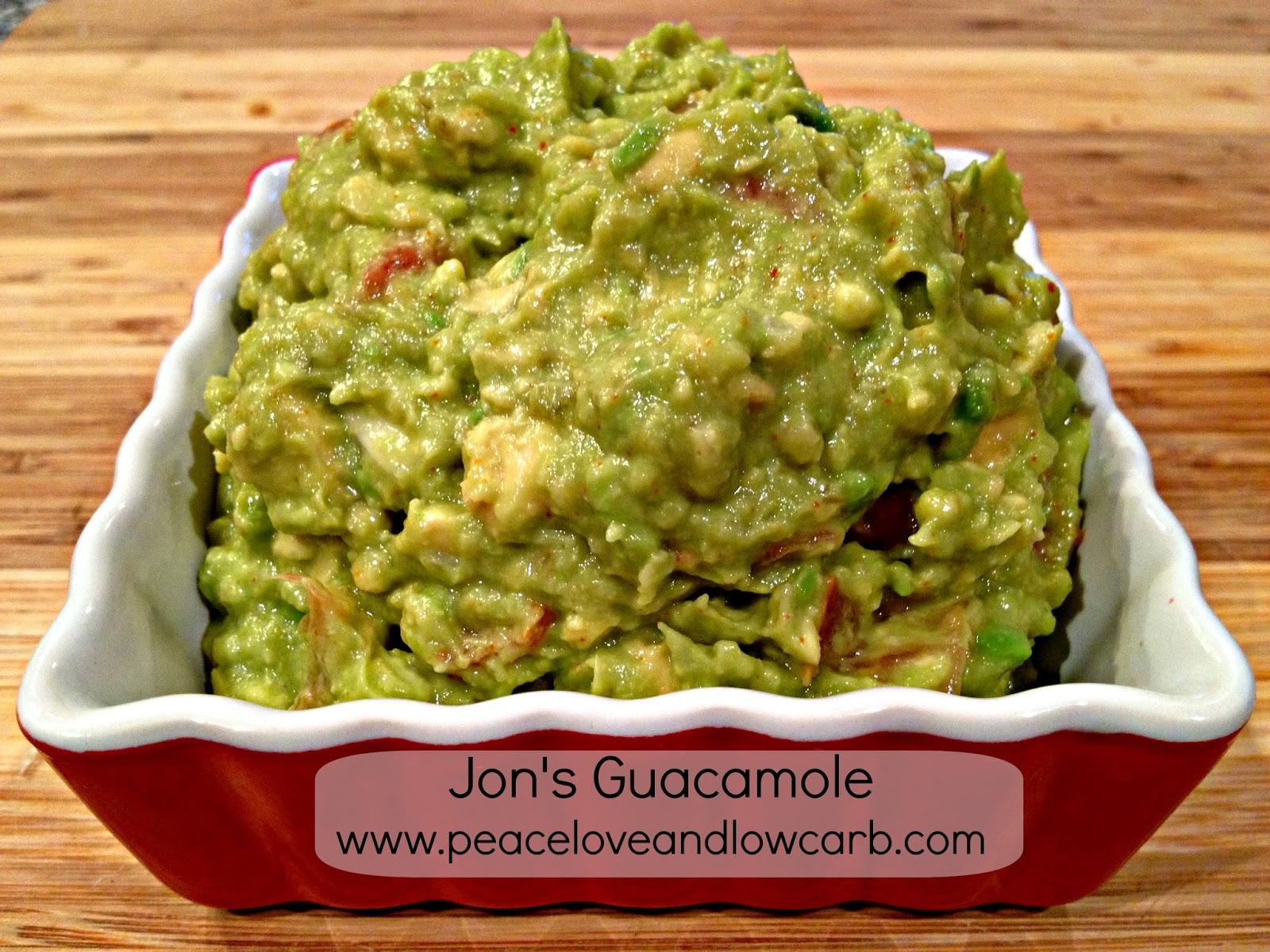 Jon's Guacamole - Low carb, Gluten Free, Paleo | Peace ...