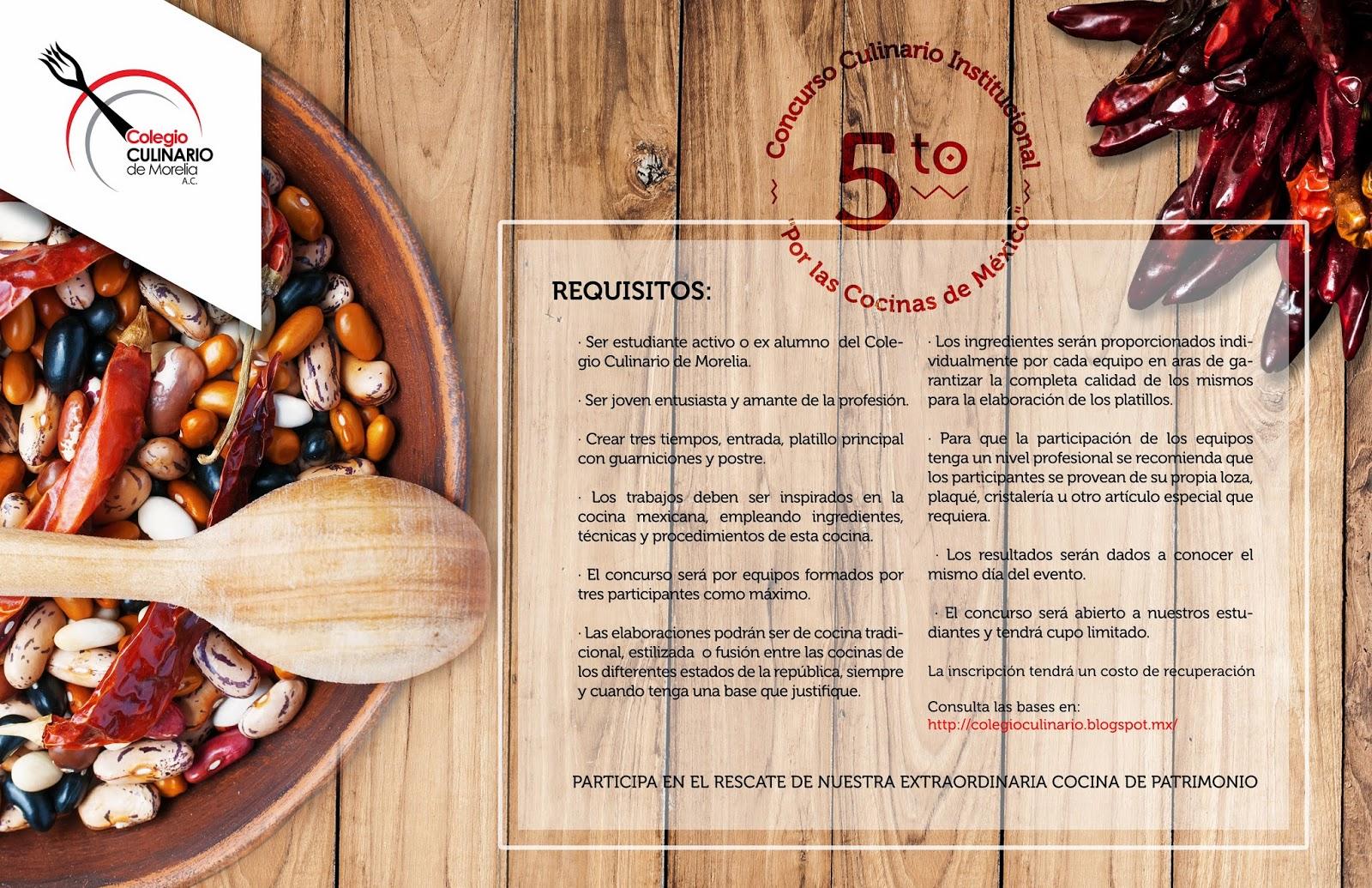 Noticias colegio culinario convocatoria para el concurso - Concurso de cocina ...