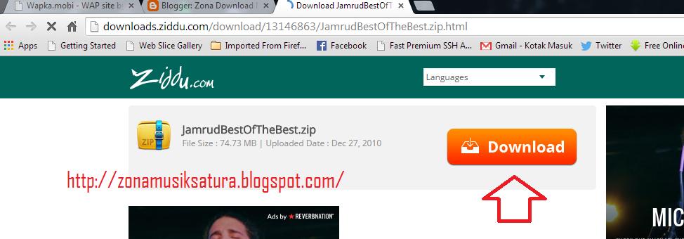 Cara Download File Di Ziddu | Terbaru 2015