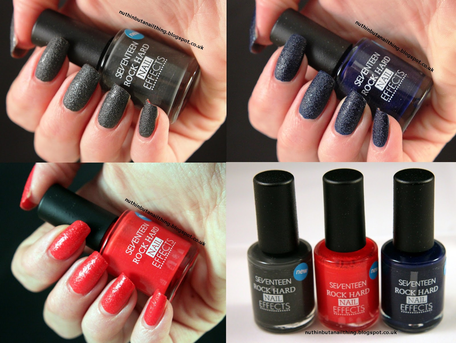 nuthin\' but a nail thing: 17 Rock Hard Nail Effects - Swatches & Review