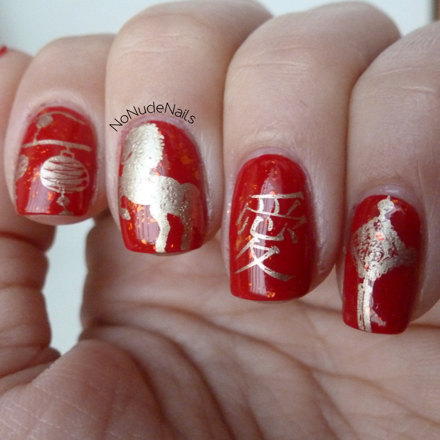 Chinese New Year 2014 nails