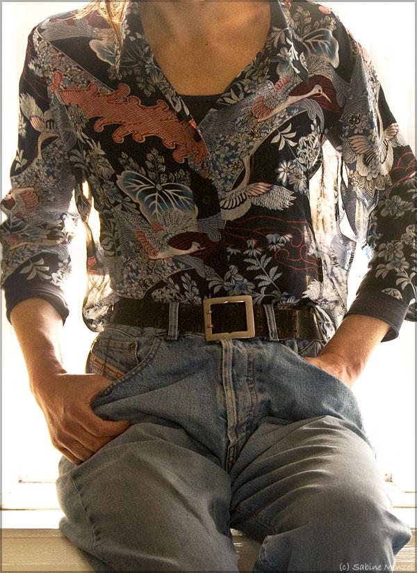 Psynopsis Diesel Jeans Vintage Linea Silk Blouse