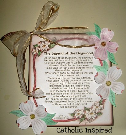 picture about Legend of the Dogwood Tree Printable identified as The Legend of the Dogwood Tree ~ Crafts and Playing cards - Catholic
