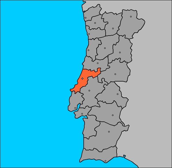Mapa de portugal y leiria