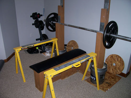 diy bench press stand 2
