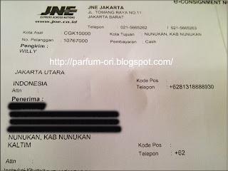 Pengiriman Parfum ke Nunukan, Kalimantan