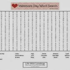 Valentines Word Searches Hard 3