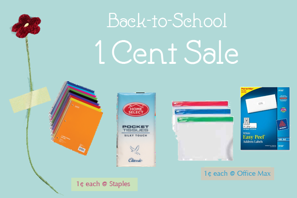 Back to School Penny Sale 2013 Promotion