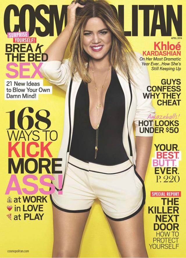 Khloe Kardashian para Cosmopolitan Magazine abril 2014