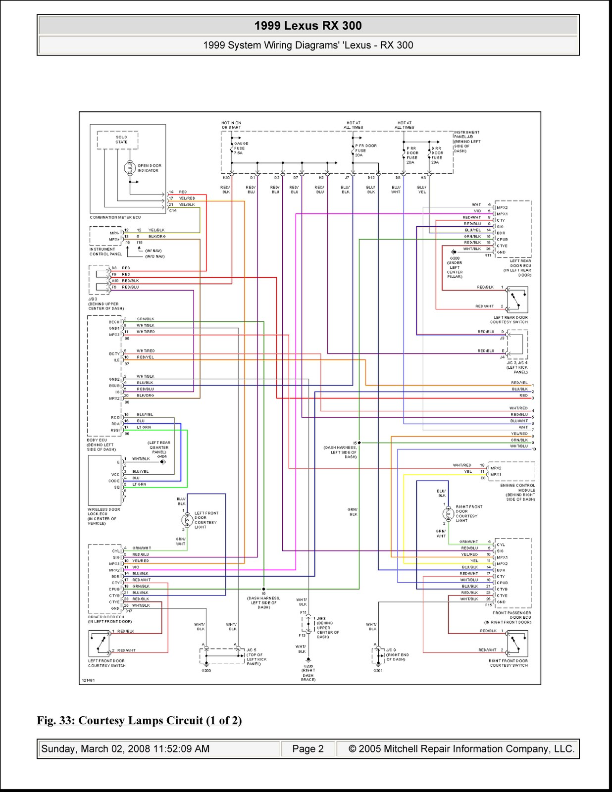 1999 Lexus Rx 300 System Wiring on 2003 chevy factory radio wiring diagram