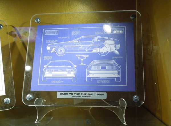 Back to the Future DeLorean blueprint