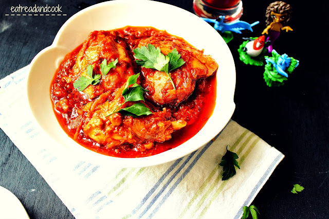 how to cook African Red Chicken Stew