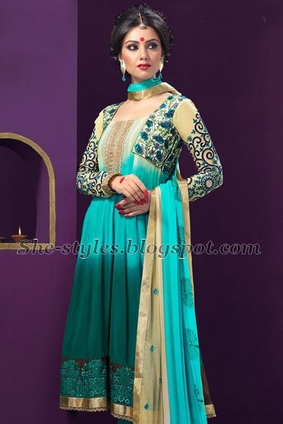 Hairstyle For Long Hair On Salwar Kameez : Bandhani salwar kameez designs 2012 Salwar kameez Fashion catalogue ...