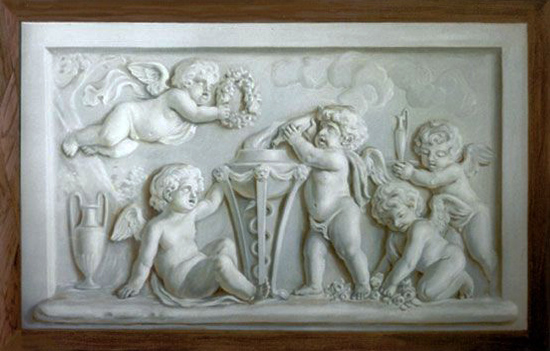 The ornamentalist in memoriam garth benton for Bas relief mural